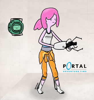 Portal Adventure Time by AJsCanvas
