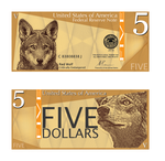 Red Wolf Five Dollars by MathewScotArt