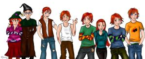 The Weasleys by missmands
