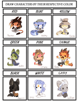 character color meme by griffsnuff