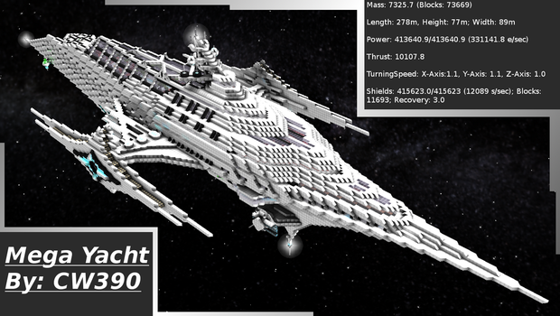 My Yacht in Starmade by CW390