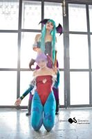Morrigan and Lilith Aensland by HellenLuque