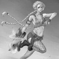 Jinx - LOL by Litteria