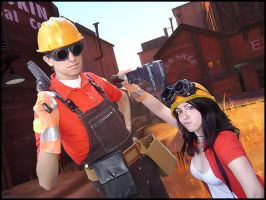 Red Engineers from TF2 by AuRa90