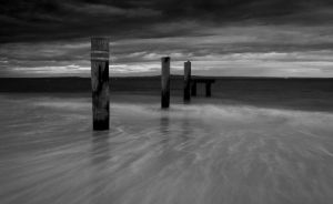 Queenscliff Pillars BW by DanielleMiner