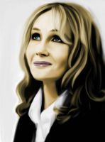 J.K. Rowling colored by nikki13088