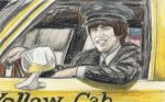 George Harrison as a taxi driver by gagambo