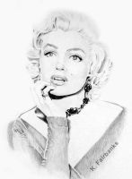 Marilyn Monroe Daydreaming by eyeqandy