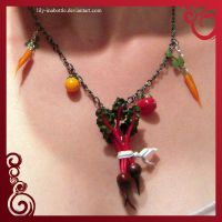 Beet Necklace by lily-inabottle