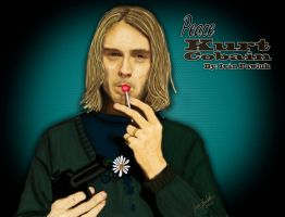 Kurt Cobain - peace by ipawluk