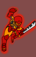 Tahu, Courageous Toa of Fire by josuic