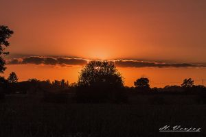 Sunset has Noce Orne France by hubert61