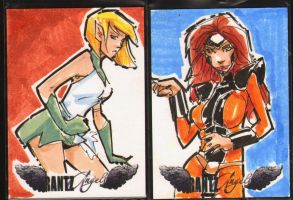 Littledemonink commissions sketch cards by rantz