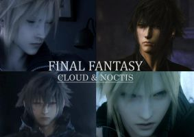 Cloud and Noctis by cloudstrifejen