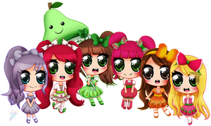 .:Fruit Girls:. by Ivory-Ice