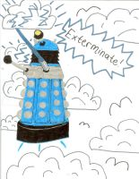 Bored Dalek by saltshakercat
