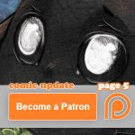 Comic update page 5 on Patreon by tikopets