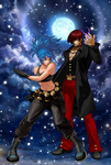 Iori and Leona in the Winter by LordSesshomaru85