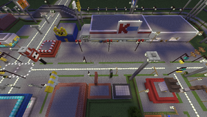 Minecraft Kmart and shops by BowserHusky