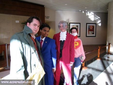 Ace Attorney Group by SnowBunnyStudios