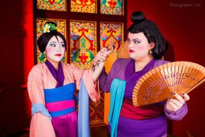Disney cartoon Mulan by Matsu-Sotome