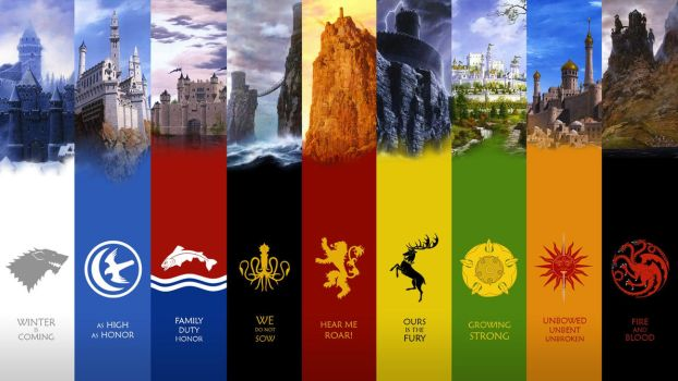 Game of Thrones Castles by antony-hitzig