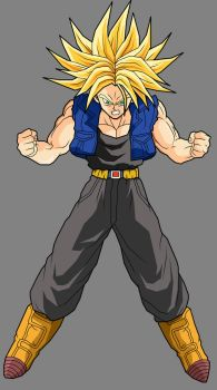 Trunks - Super Saiyan by dbzataricommunity