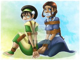 Commission: Katara and Toph by 77Shaya77