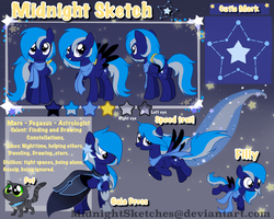 Midnight Sketch's reference sheet by MidnightSketches