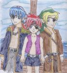 Marth, Link, Roy as Pirates by Homework-Ate-Me