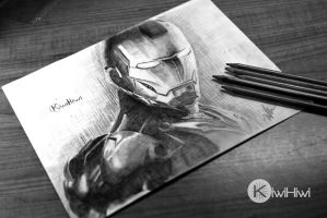 Pencil Drawing: Iron Man by KiwiHiwi