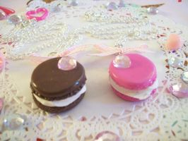 Macaroon Necklaces by lessthan3chrissy