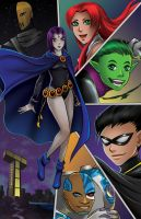 Teen Titans by TyrineCarver