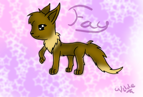 Fay the eevee .:Art Trade:. by Trixiemegatoon