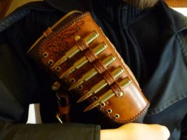 Leather Cheek-Pad 06 by Bear-Crafter
