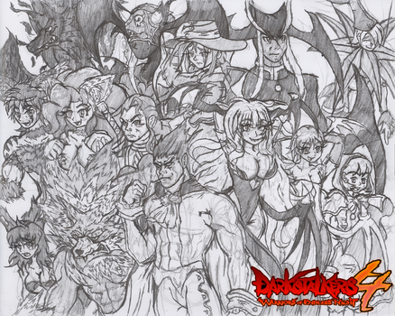 Darkstalkers 4 Group Drawing #1 by Hotfeet444