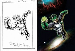 Bryan Hitch Green Lantern by steveart81