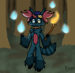 Will-O-Wisps in the Forest by Night-Chimeras-Cry