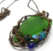 Shadowsea Pendant no. 21 by sojourncuriosities