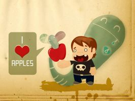 I love apples collab by ivan-bliznak