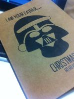 Darth Vader Christmas Greeting Card by beccyboo-412