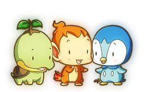 Tiny Sinnoh Starters by KevKeaf