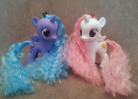 MLP: FiM - Filly Luna and Celestia - custom ponies by hannaliten