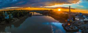 Sunset over Siret by AlecsPS