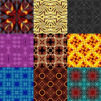 Tileable Abstract Pattern Pack 01 by he4rty
