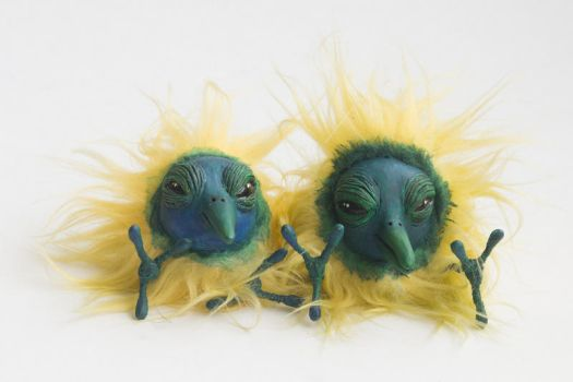 Yellow chicks by agalula
