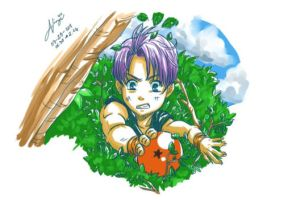 DBZ Trunks and 1 Star Ball by nicoy
