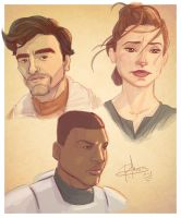 Star Wars: Force Awakens - sketches by patrickianmoss
