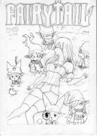 Snow White and the six Fairy Tail dwarfs by YayPainterGirl16