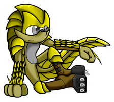 Sonic OC - Kione the Pangolin by GreyScale9